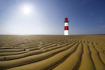 Fototapete - Leuchtturm auf Sylt