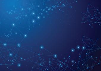 digital network line background