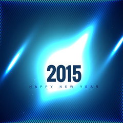 2015 in blue background with glowing shapes
