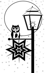 Owl with latern