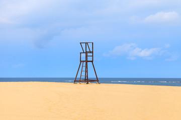 Lifeguard Tower at the Beach in Boavista, Cape Verde, Cabo Verde