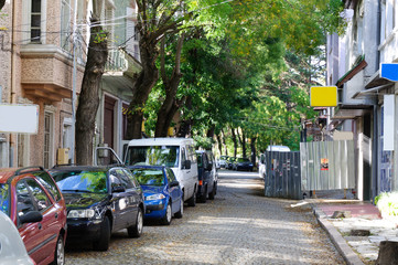 street with cars