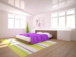 white 3d bedroom