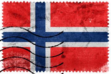 Norway Flag - old postage stamp