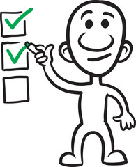 doodle small person - marking checklist