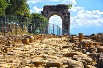 Arco de Cáparra, antigua calzada romana, Cáceres, Hispania