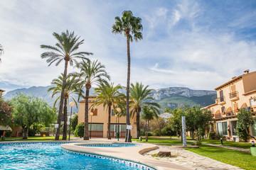Swimming pool at luxury villa, Spain