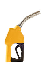 Yellow Gasoline Fuel Pump Nozzle