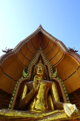 giant golden image of Buddha