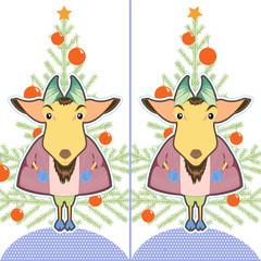 Cute cartoon Goat ling