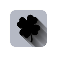 clover with four leaves sign icon saint patrick