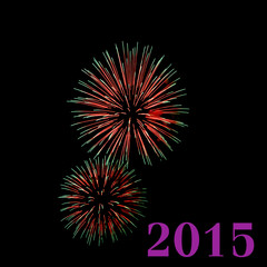 Fireworks to welcome the New Year 2015