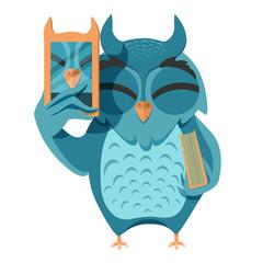 owl selfie
