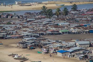 Liberia, Armenviertel von Monrovia