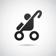 Baby stroller VECTOR icon.