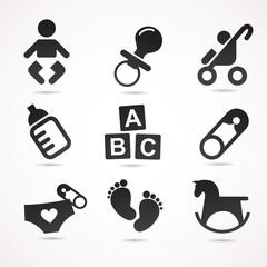Baby VECTOR icon set.