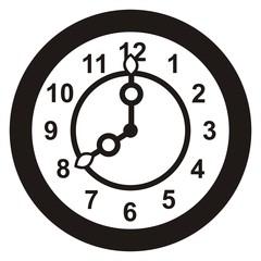 clock, black
