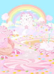 Canvas Prints Fairytale World Candy land