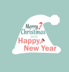 Christmas hat vector new year