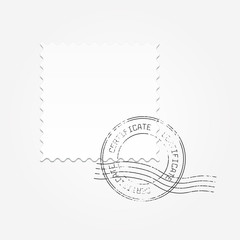 Postage blank vector illustration
