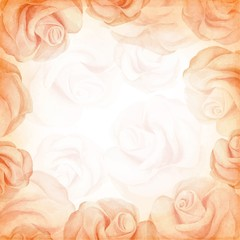 Abstract romantic vector background in beige colors.