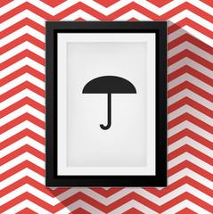Vector Frame: Umbrella icon
