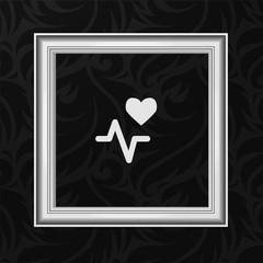 Vector Frame: Heart beat