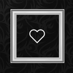 Vector Frame: Love concept