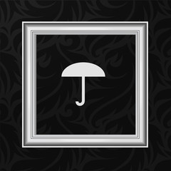Vector Frame: Umbrella icon