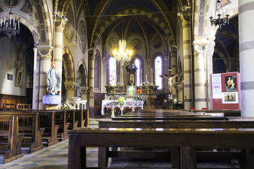 San Secondo church, Govone, Internal. Color photo