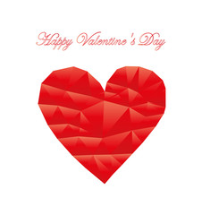 Vector greeting card with hearts of triangles