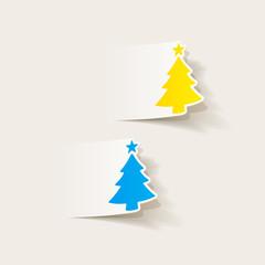 realistic design element: christmas tree