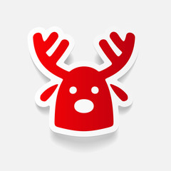 realistic design element: christmas deer