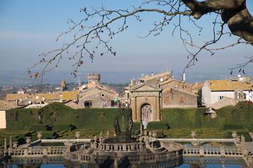 Villa Lante panorama dall'alto
