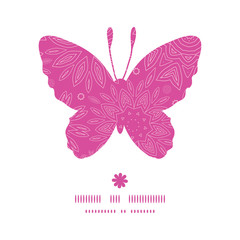 Vector pink abstract flowers texture butterfly silhouette