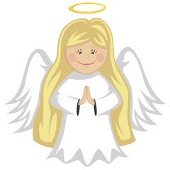 Little Cute Angels - blonde angel praying