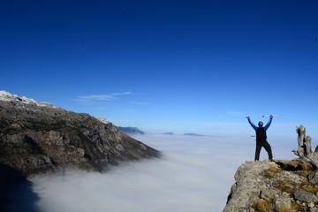 zirveye ulaşma coşkusu&dağcı