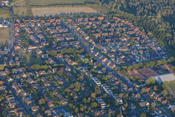 Cityscape in the Lower Rhine Region of Germany