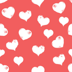 Vector Seamless Hearts Pattern Background