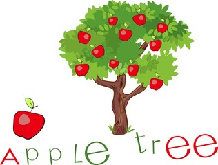 Apple tree with title