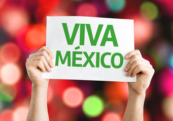 Viva Mexico card with colorful background