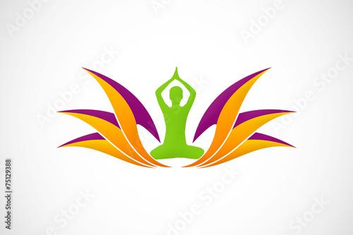 Lotus flower yoga logo vector stock image and royalty free vector lotus flower yoga logo vector mightylinksfo