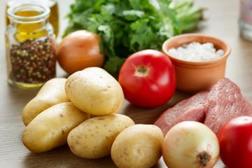 Raw food background