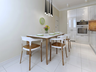 dining table chairs modern style