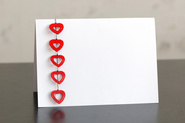 blank card with a Valentine's Day