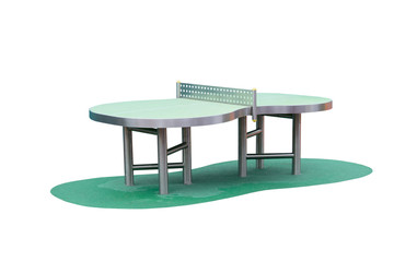 table tennis isolated on a white background
