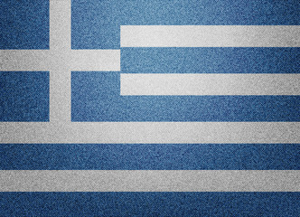 Greece denim flag