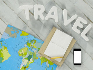 Traveling mock up business template.