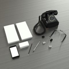 Mock up business template. High resolution 3d render.