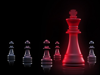 Chess. High resolution. 3D render